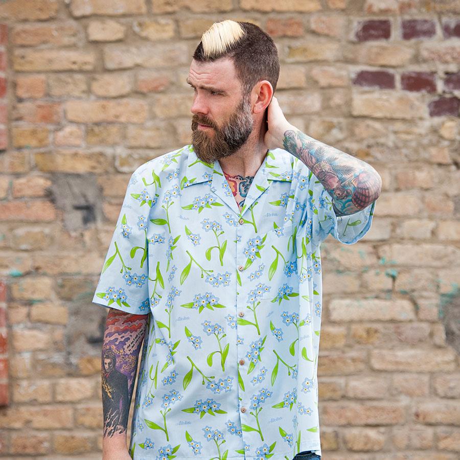 Vergissmeinnicht Hawaiihemd | Schönwetterfront