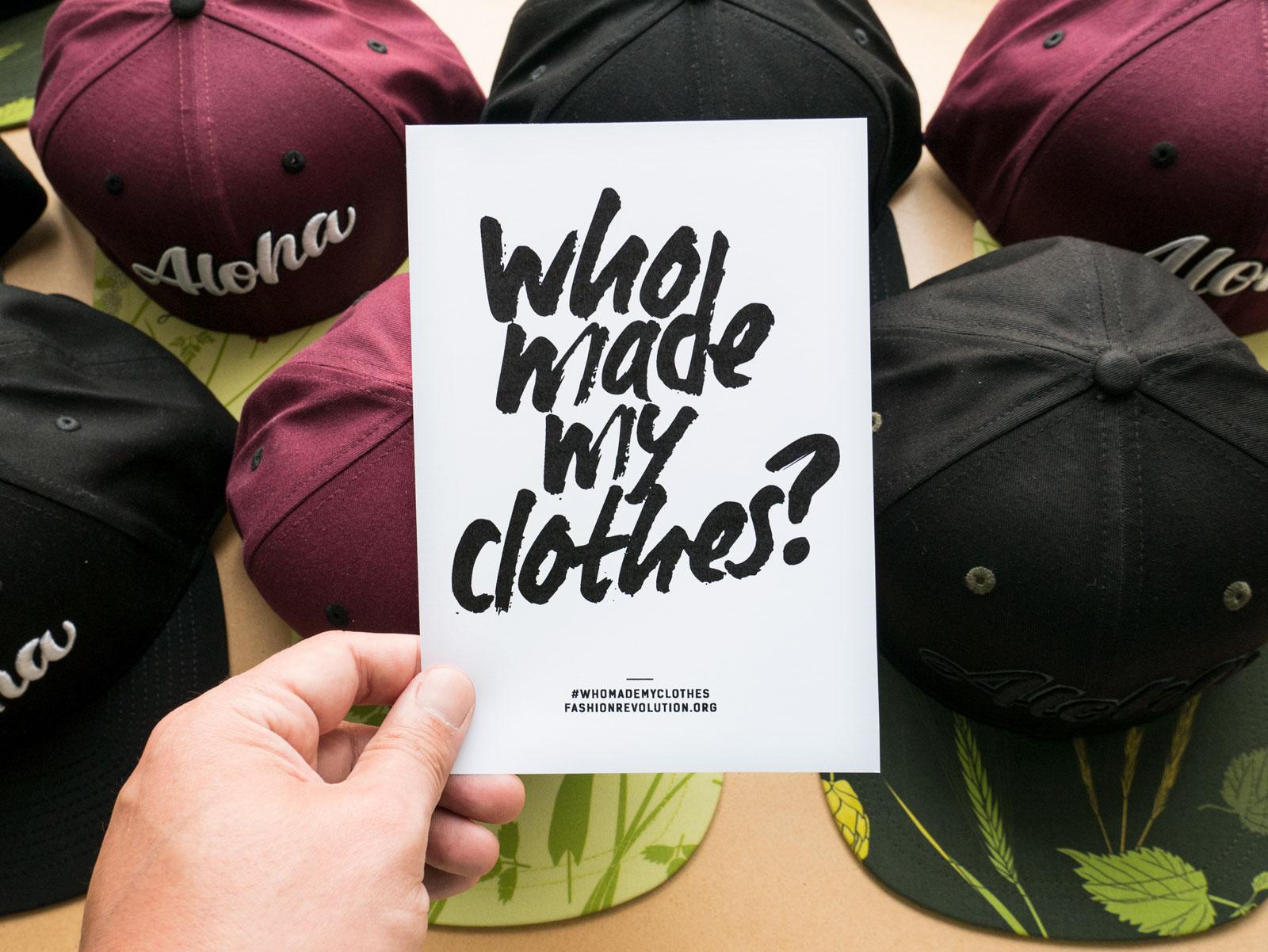 Fashion Revolution   Wer macht unsere Kappen?   Schönwetterfront